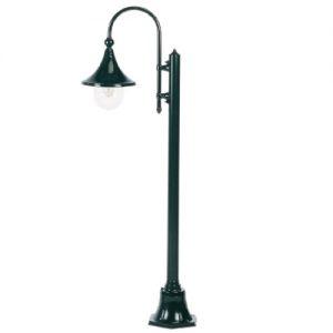 Klassieke zwarte buitenverlichting stallamp